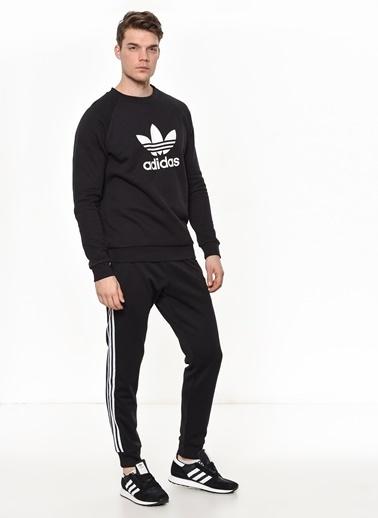 adidas Adidas Erkek Günlük Sweatshirt Cw1235 Trefoil Crew Siyah